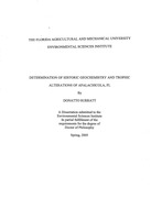 Determination of historic geochemistry and tropic alternations of Apalachicola, FL