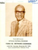 FAMU Official Program, November 22, 1975
