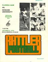 FAMU Official Program, October 2, 1976