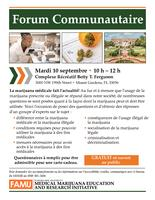 09-10-19 Community Forum Flyer Miami (French)
