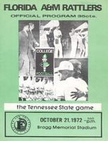 FAMU Official Program, October 21, 1972