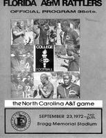 FAMU Official Program, September 23, 1972